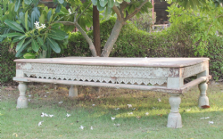 Temple Day Bed Coffee Table, Gujarat <b>SOLD<b>